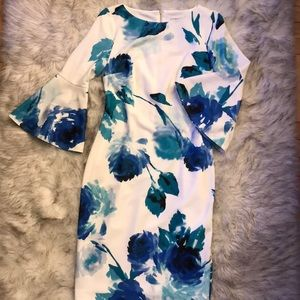 Calvin Klein Blue Floral Dress